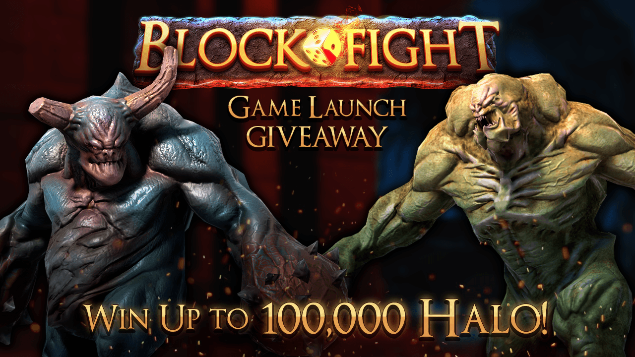 Blockfight Game Giveaway | Win up to 100,000 HALO | GiveLab